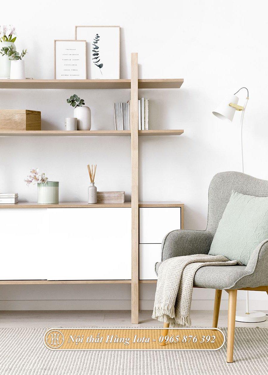 Tủ gỗ decor phong cách hiện đại nhã nhặn