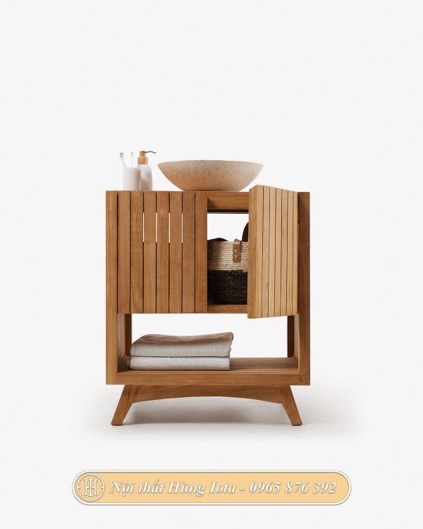 Tủ gỗ đựng chậu rửa đồ đạc cho phòng tắm