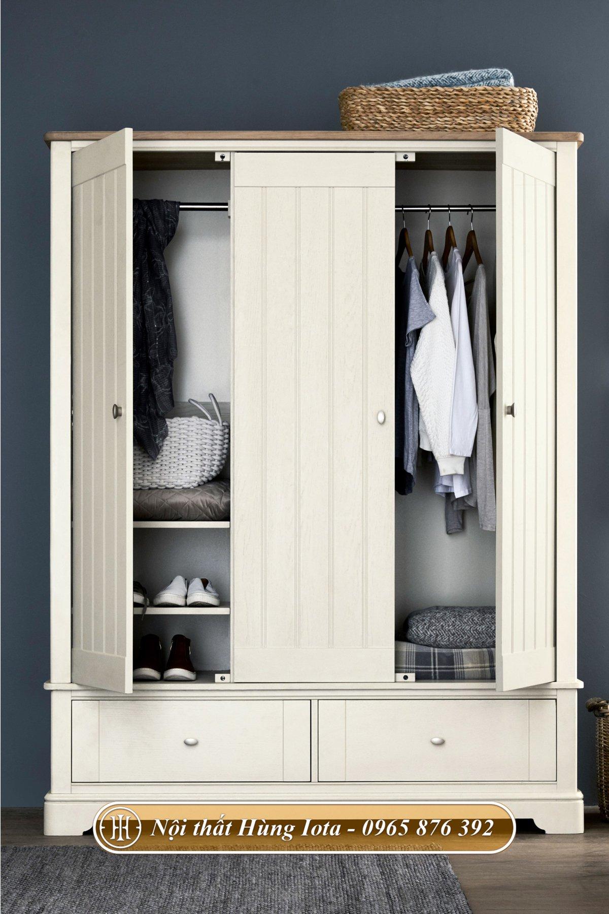 Tủ quần áo thiết kế nhiều ngăn dễ sử dụng