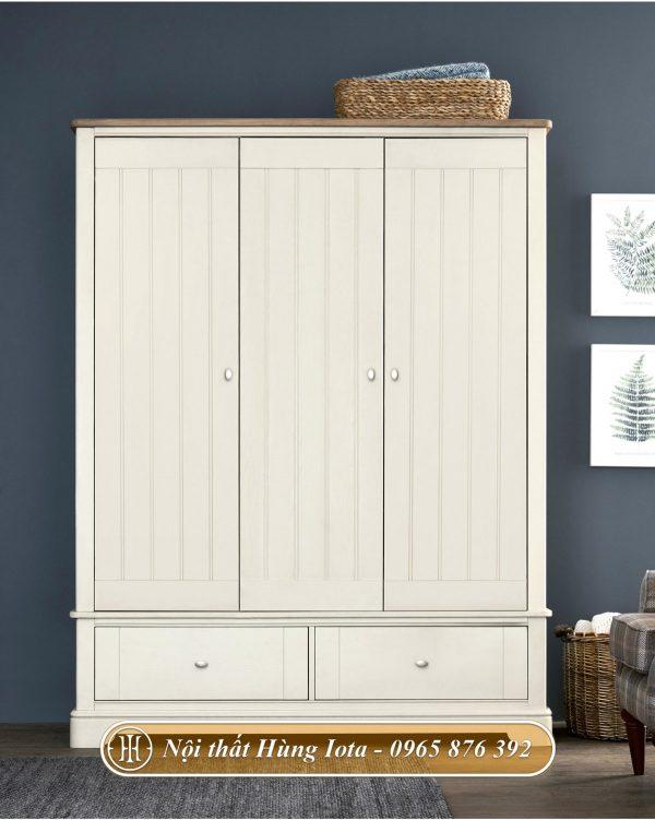 Tủ quần áo trắng phù hợp nhiều không gian