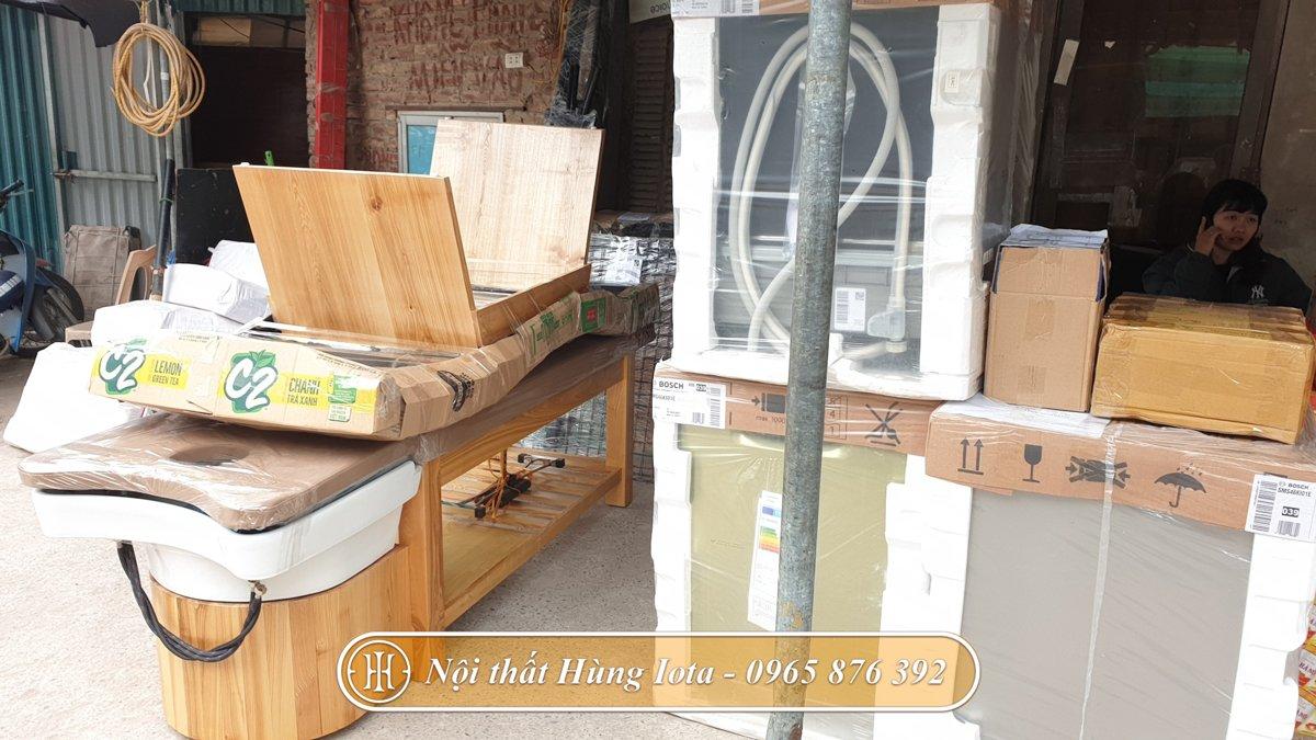 Vận chuyển giường nối mi màu gỗ về Thanh Hóa