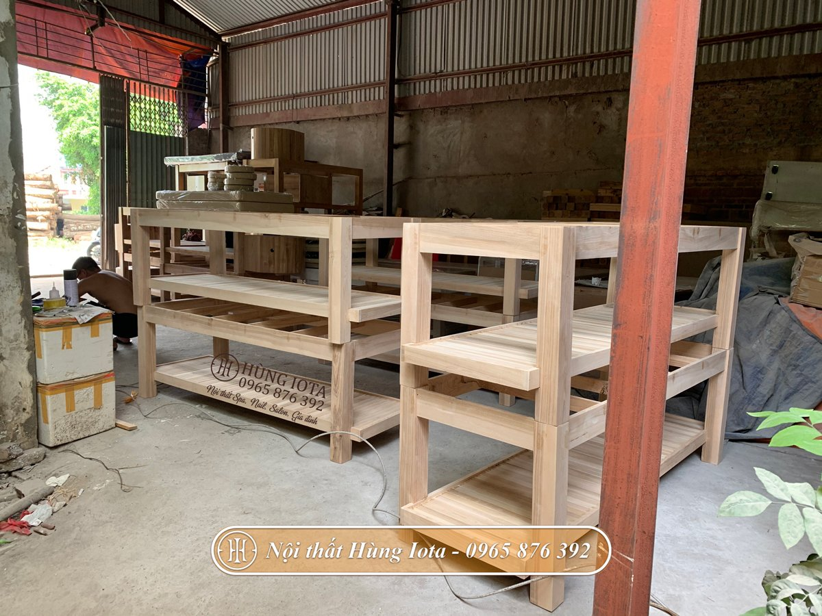 Xưởng làm giường spa gỗ chuyên nghiệp
