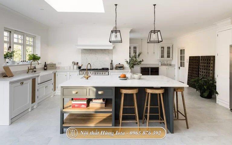 Decor phòng bếp bằng đảo bếp đa năng hiện đại