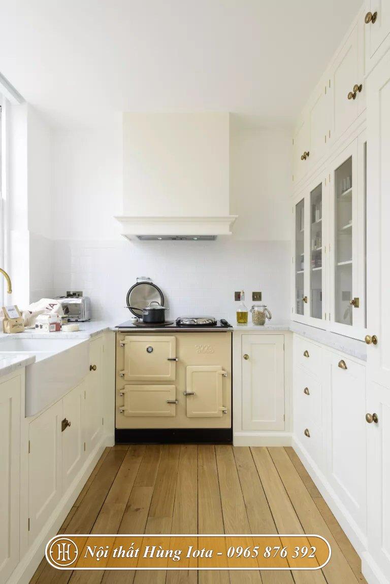 Decor phòng bếp sử dụng sàn gỗ công nghiệp