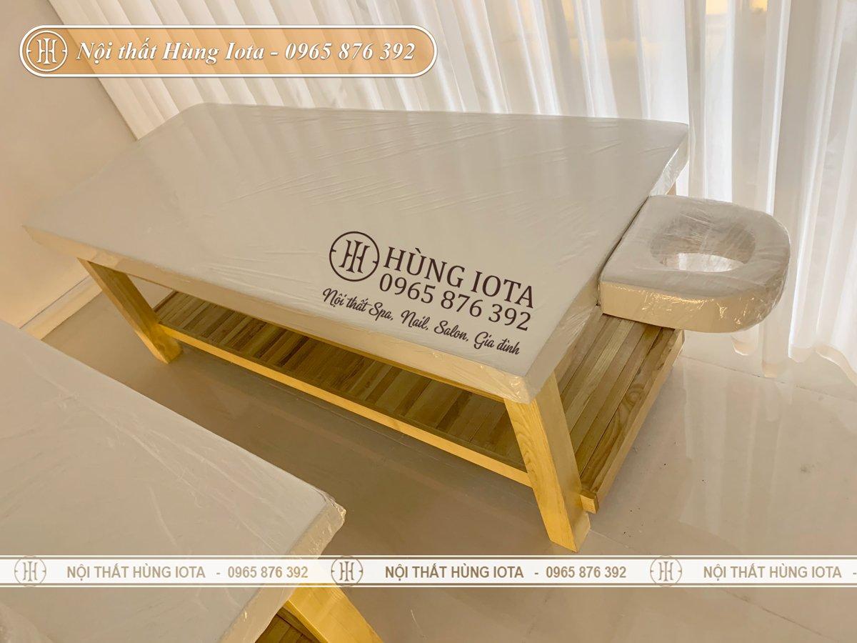 Giường spa gỗ cao cấp chống mối mọt