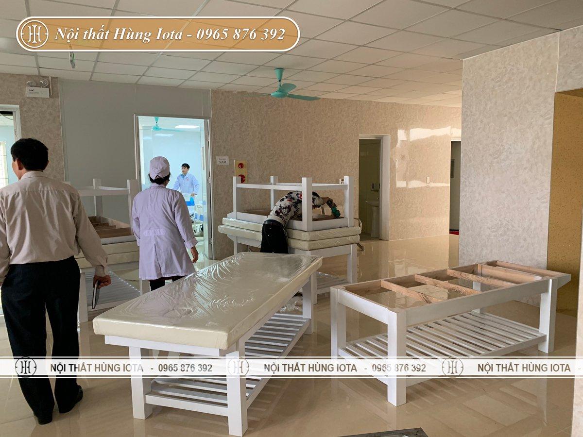Lắp đặt giường spa cho bệnh viện đa khoa