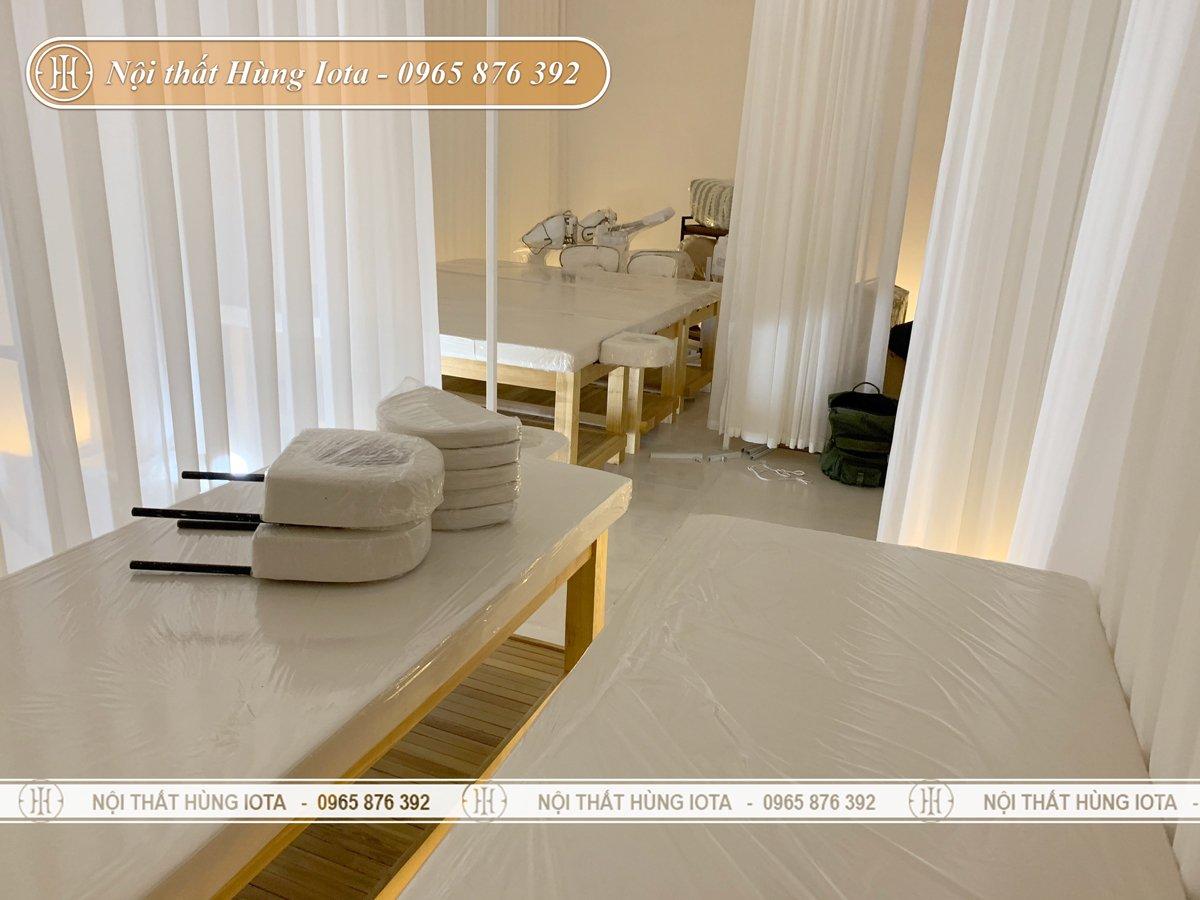 Lắp đặt giường spa ở Vinhomes