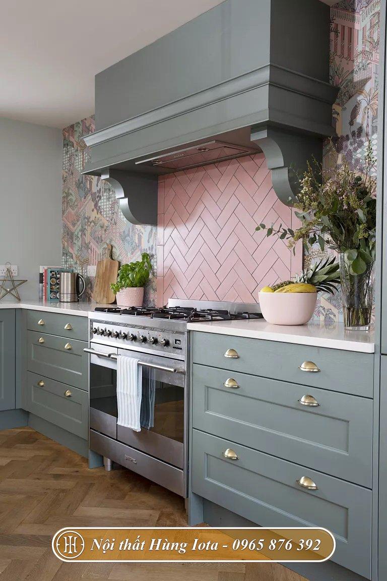 Thiết kế bếp ăn chung cư nhỏ đẹp gọn gàng