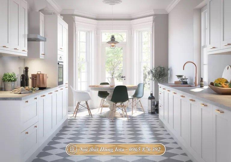 Thiết kế nhà bếp kết hợp phòng ăn tiện lợi