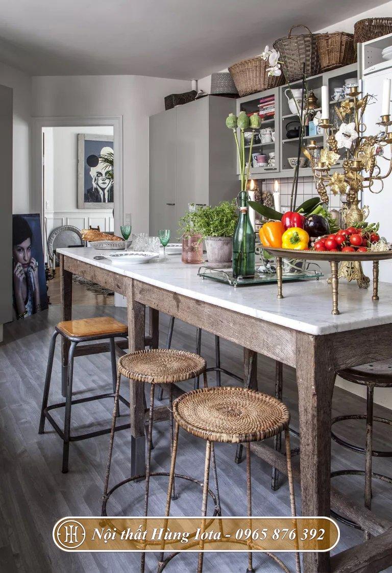 Thiết kế nhà bếp phong cách rustic mộc mạc
