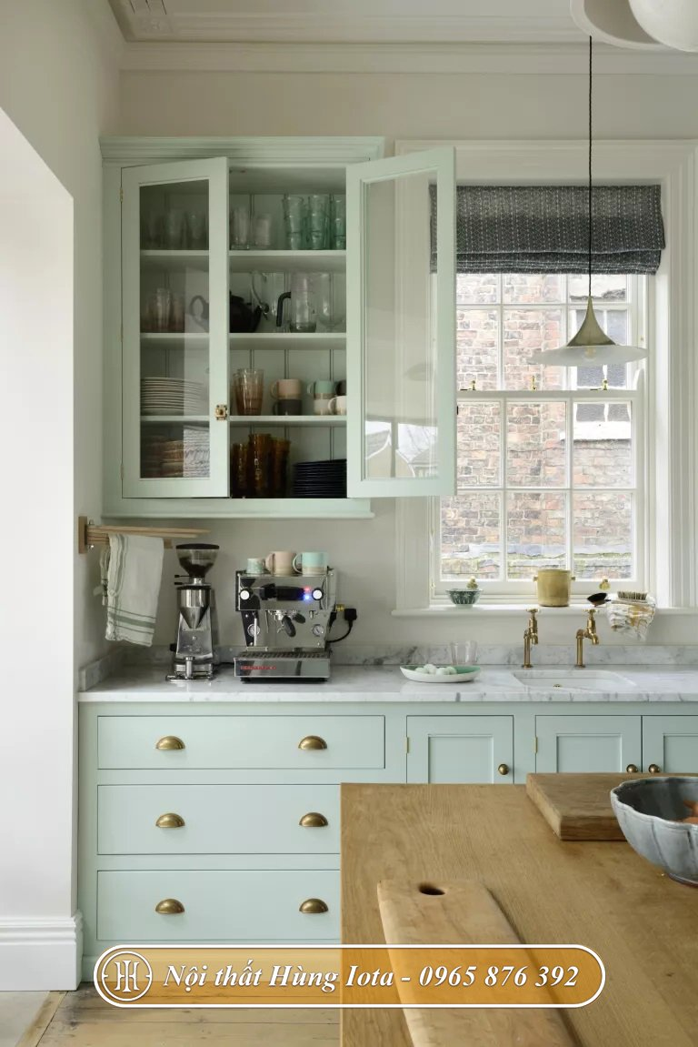 Thiết kế nội thất nhà bếp chung cư nhỏ đẹp tiện nghi