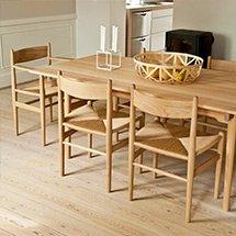Bàn ghế ăn decor màu gỗ tự nhiên 6 ghế đan mây cao cấp giá tốt BGA24