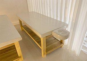 thumb lắp đặt giường spa màu gỗ