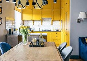 thumb thiết kế nhà bếp màu vàng trẻ trung