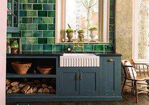 thumb thiết kế nhà bếp tông xanh lá