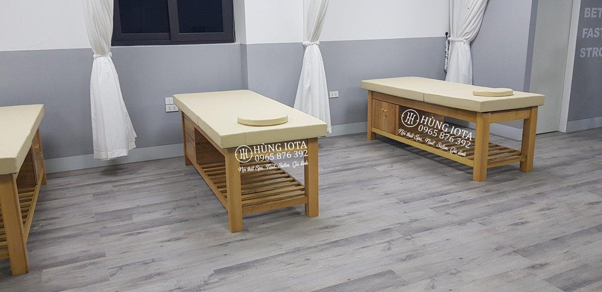 thumb xưởng sản xuất giường spa màu gỗ