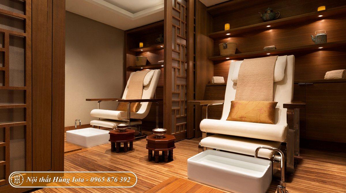 Ghế foot massage cho spa phong cách Nhật Bản