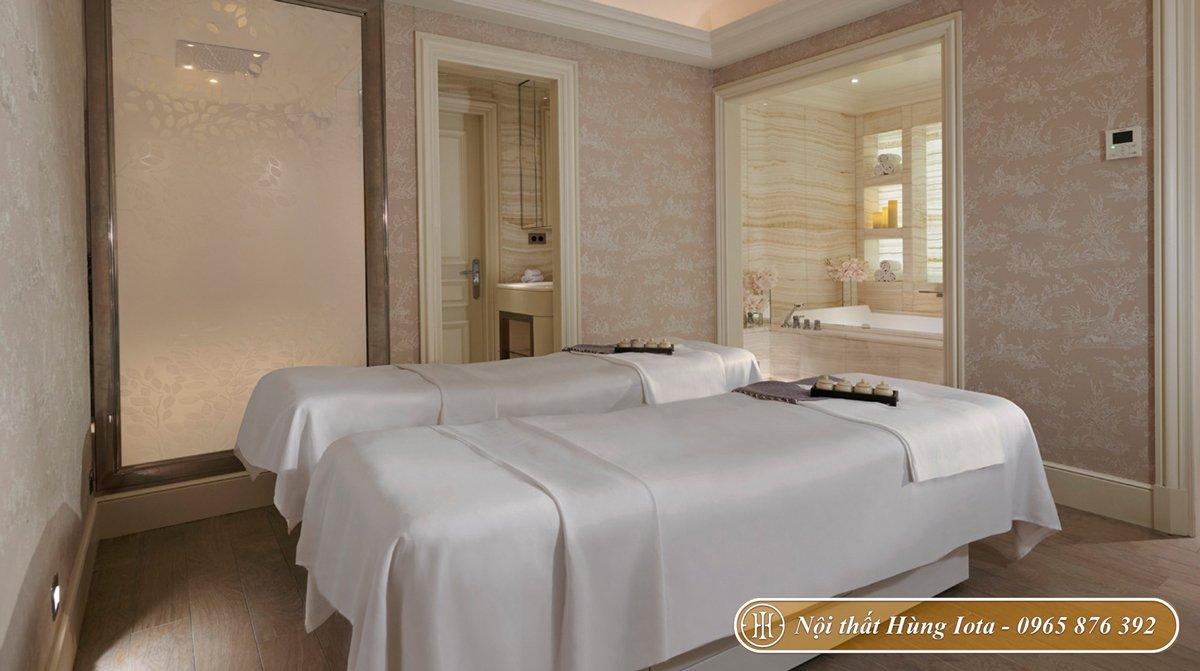 Giường massage spa màu trắng giá rẻ