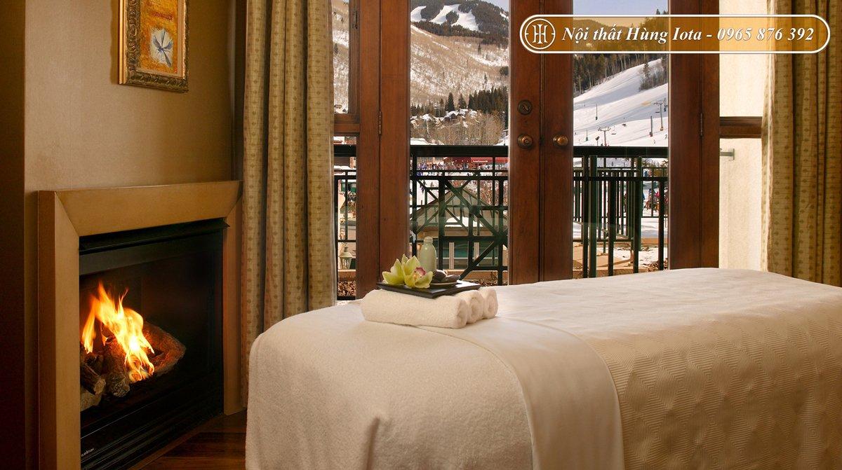 Giường spa đẹp chất liệu gỗ mộc mạc