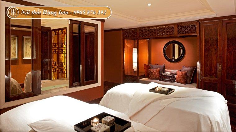 Nội thất phòng spa đẹp kiểu dáng đơn giản, bắt mắt
