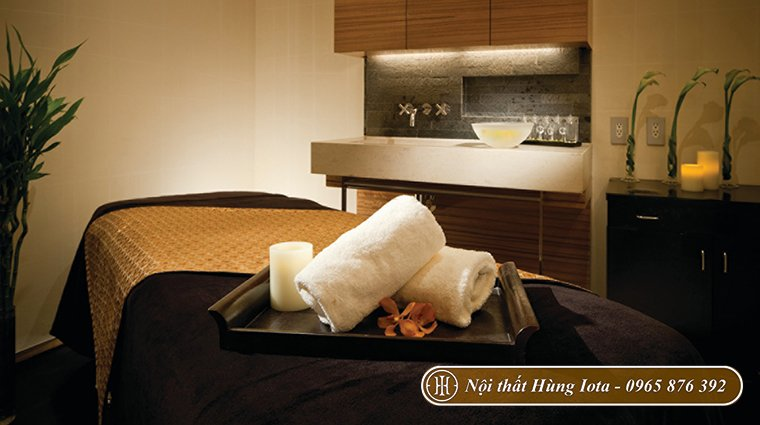 Nội thất phòng spa kiểu Nhật đơn giản, gọn gàng