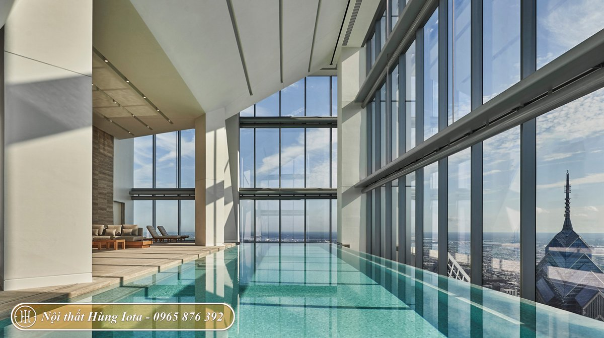 Thẩm mỹ viện có bể bơi trong nhà