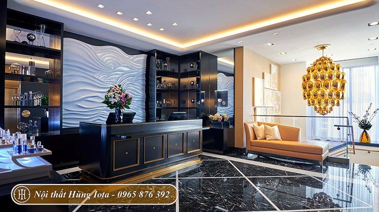 Thiết kế nội thất spa tone màu đen đẳng cấp