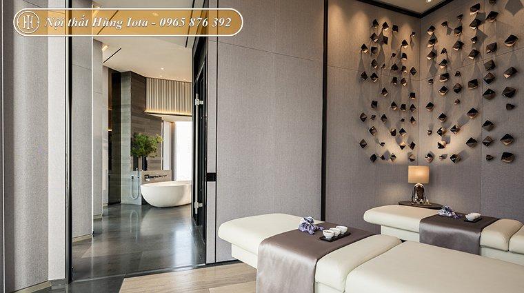 Thiết kế nội thất spa tone trắng xám sang trọng, đẳng cấp