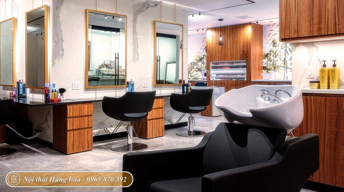 Thiết kế spa kết hợp salon tóc tiện nghi