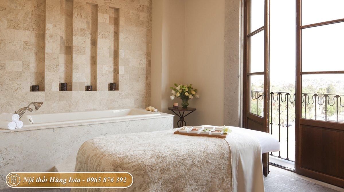 Trang trí phòng spa phong cách tối giản