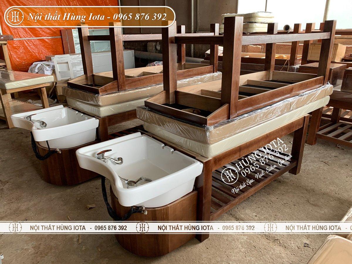Giường gội spa 2in1 cao cấp ở Hà Nội