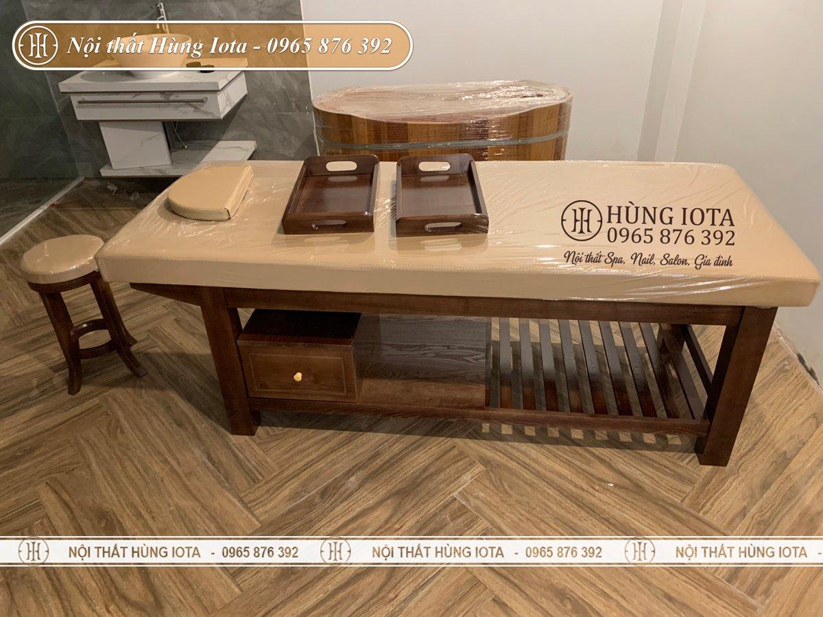 Giường massage cao cấp gỗ sồi cho resort ở Sơn Tây