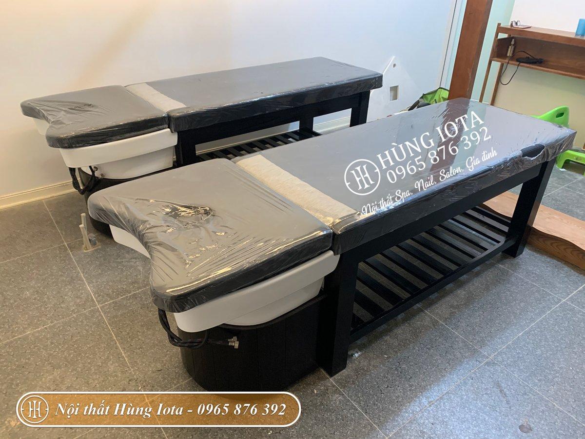Lắp đặt giường gội đầu spa 2in1 ở Long Biên