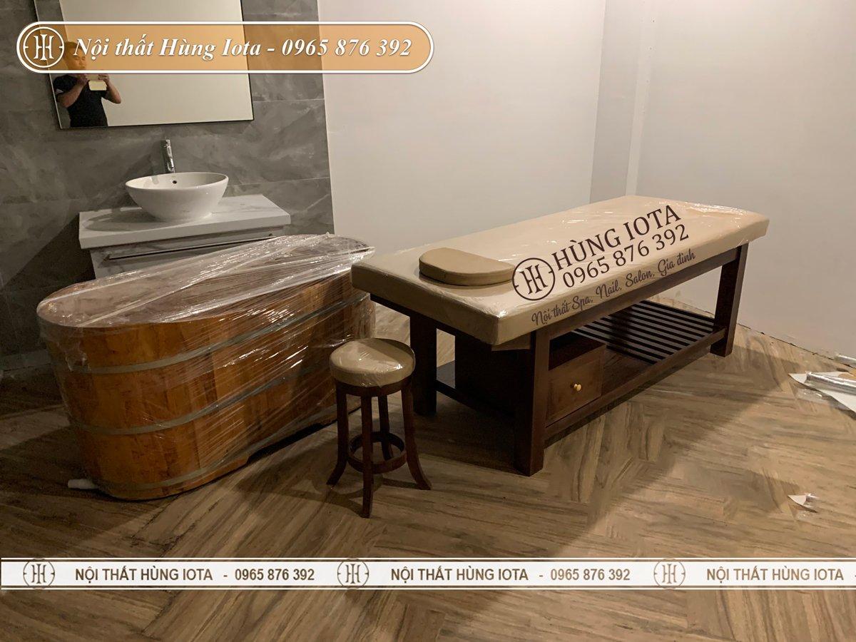 Lắp đặt nội thất spa màu hạt dẻ sang trọng cho resort ở Sơn Tây