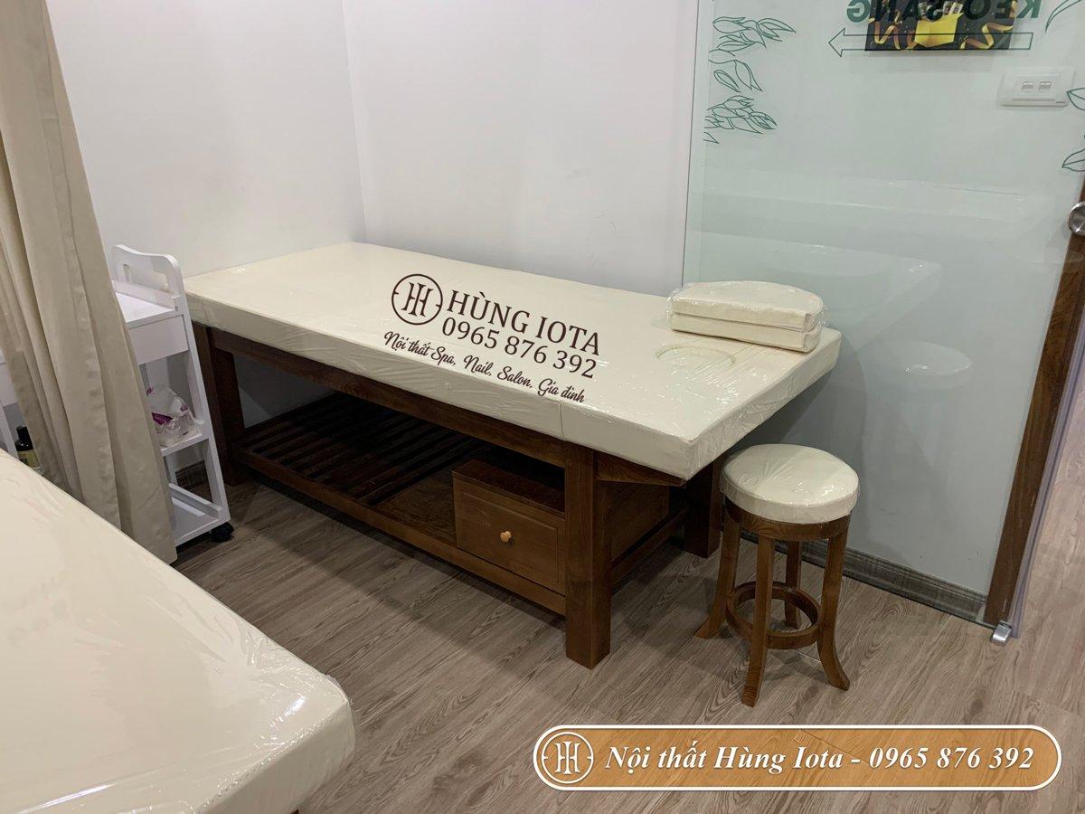 Mẫu giường massage spa cao cấp có tủ đựng đồ
