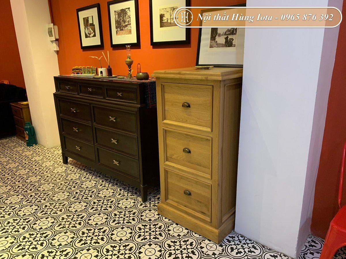 Setup tủ đựng đồ bằng gỗ cho spa tại Hà Đông