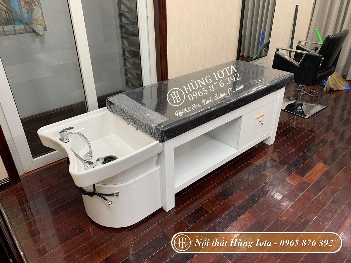 Thiết kế giường gội spa 2in1 tại Hà Đông