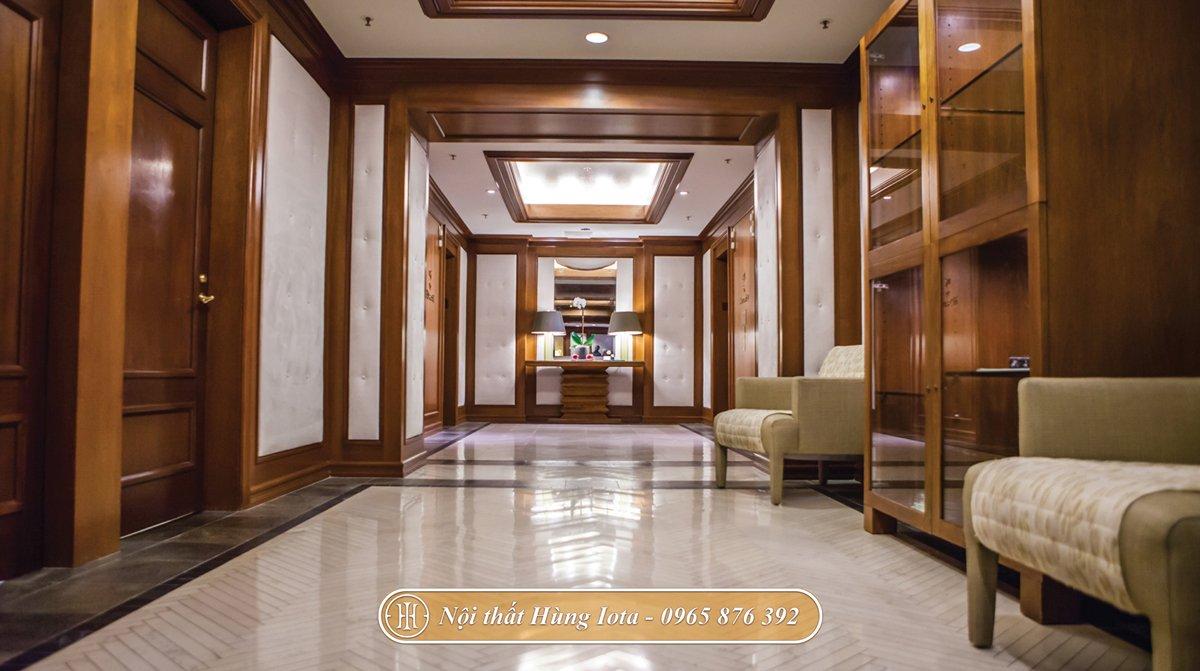 Thiết kế nội thất spa sang trọng tone màu nâu gỗ