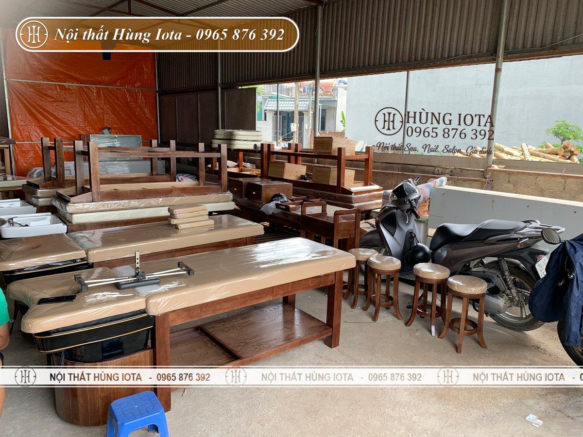 Xưởng sản xuất giường gội đầu massage giá rẻ