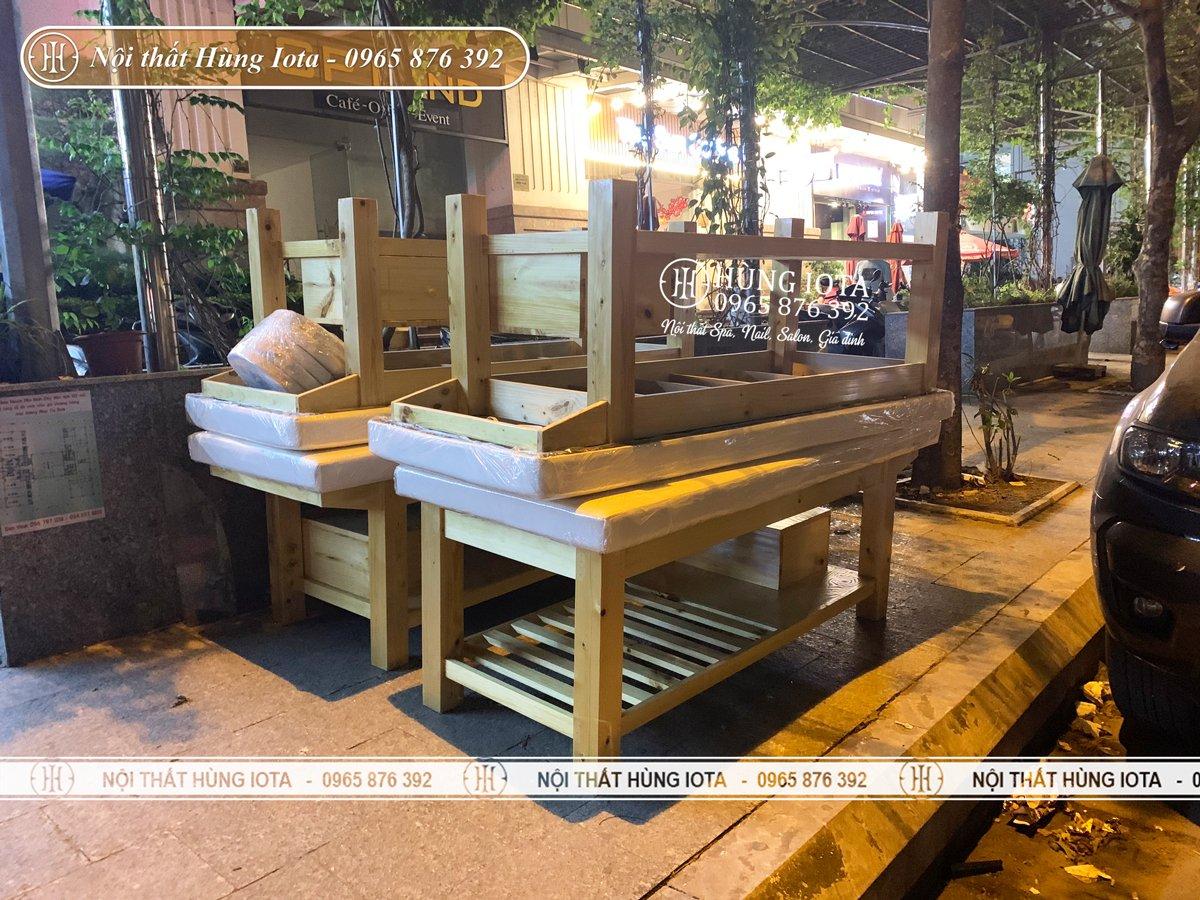 Lắp đặt giường massage cho spa ở Minh Khai