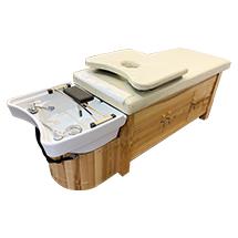 Giường gội bồn sứ kín tủ cho spa, dưỡng sinh GGD16