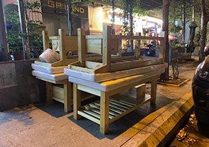 Thumb lắp đặt giường spa gỗ thông ở Minh Khai