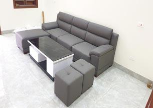 Sofa chung cư màu xám nhã nhặn, đẹp hiện đại, giá tốt SFGD38
