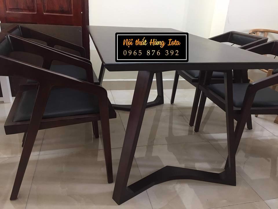 Bàn ghế ăn gia đình 4 ghế katana