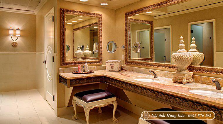 Bàn gương trang điểm cho spa kiểu dáng tân cổ điển