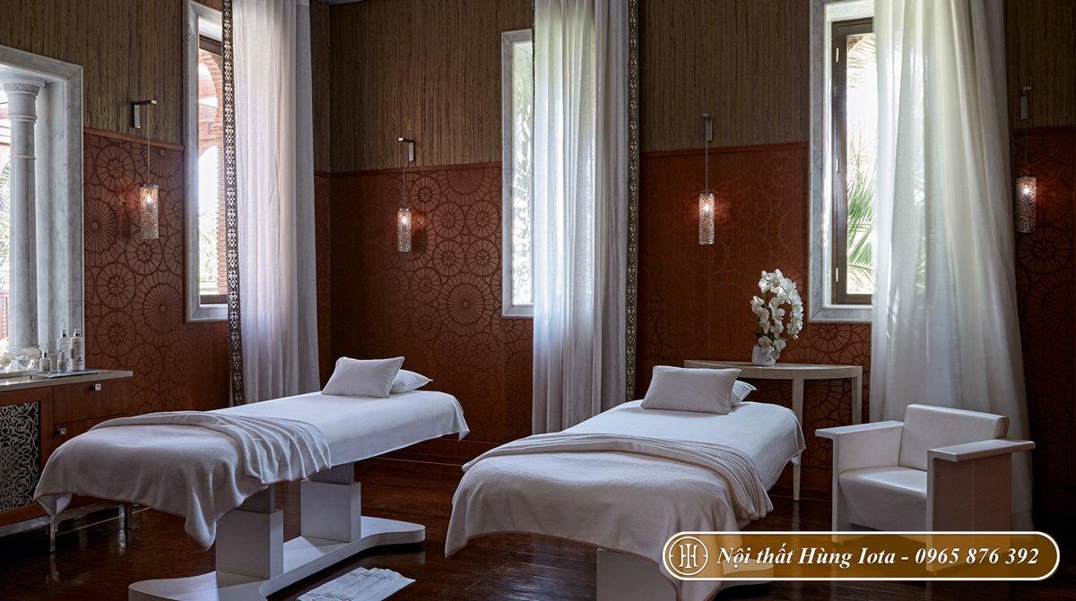 Giường massage body màu trắng cho thẩm mỹ viện