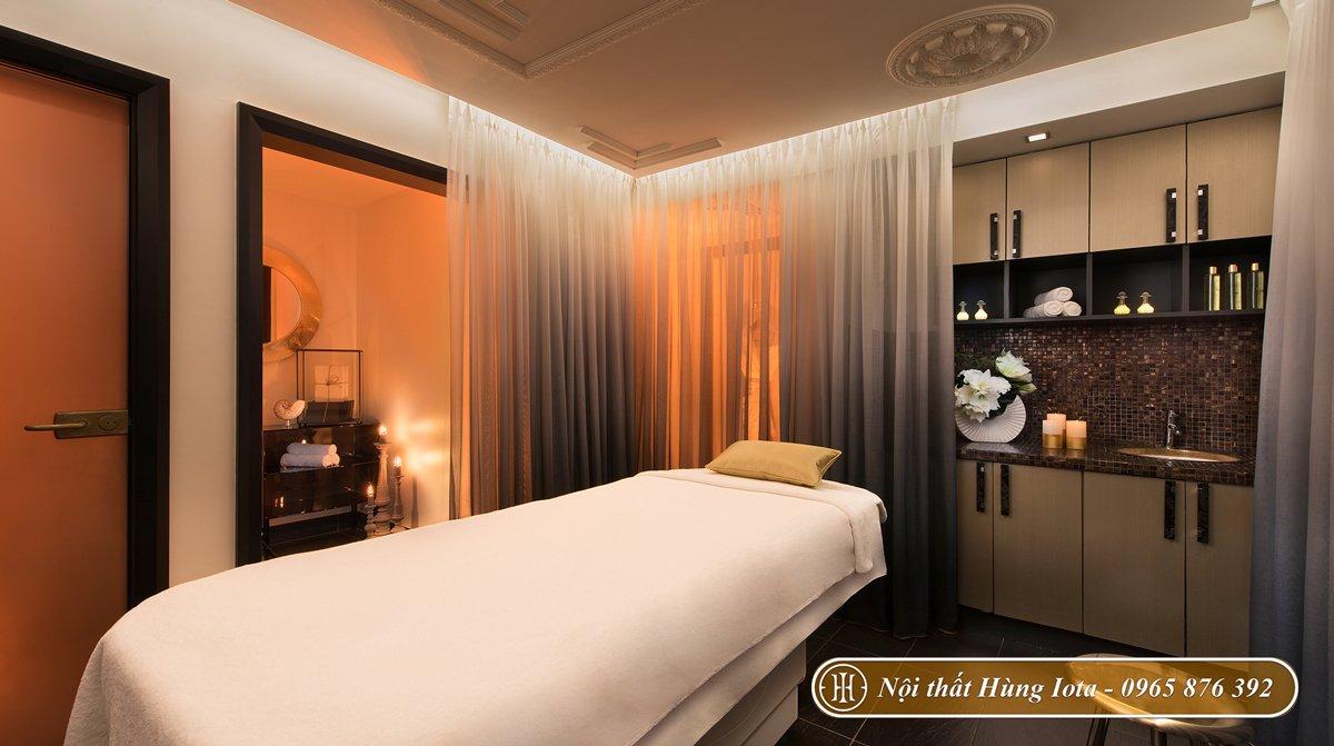 Giường massage spa màu trắng đẹp tinh tế