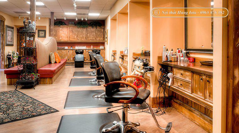 Nội thất salon tóc phong cách cổ điển