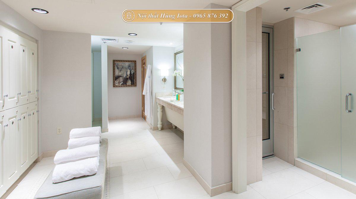Setup nội thất spa tông màu trắng đẹp tinh tế