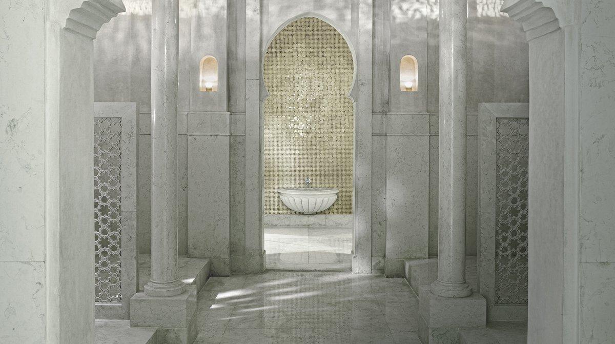 Thẩm mỹ viện ốp đá cẩm thạch màu trắng cao cấp